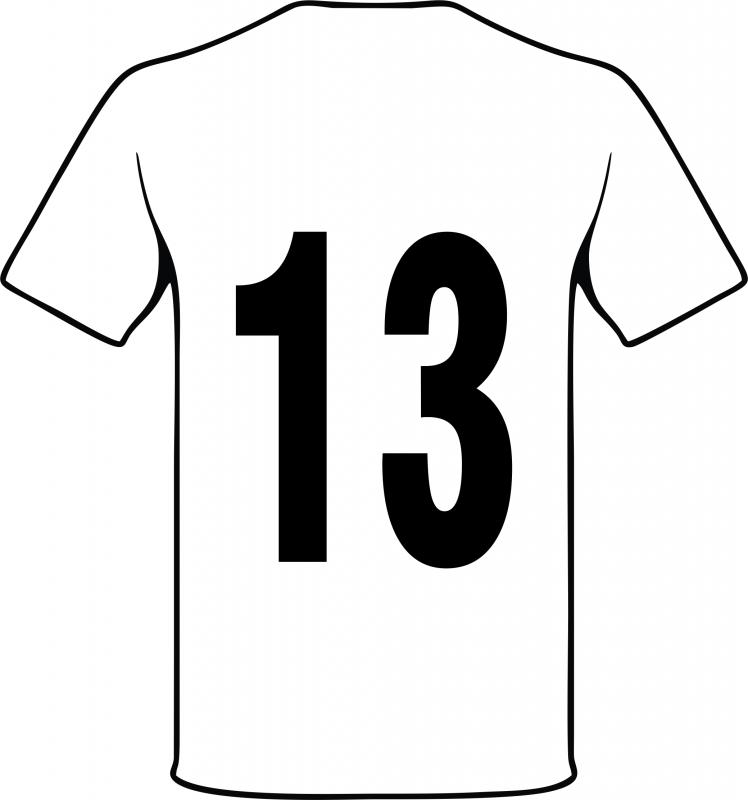Beschriftung mit großer Rückennummer