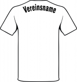 Beschriftung mit Vereinsname einfarbig