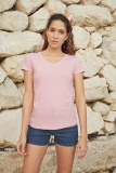 Damen T-Shirt Lady Fit Valueweight V-Neck T
